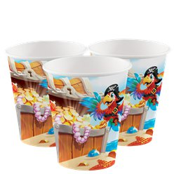 Piratenschatztruhe Becher 256ml