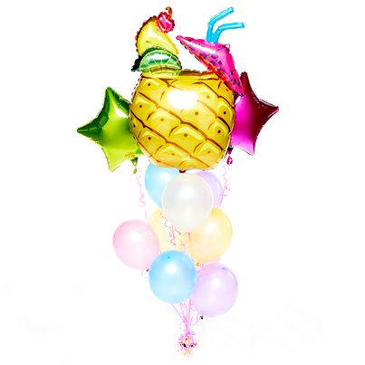 Frucht-Cocktail Sommer Luftballons Set