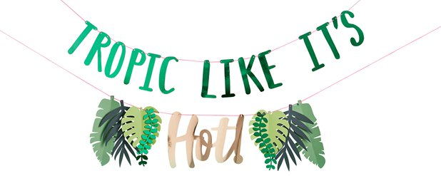 """Tropic Like It's Hot"" 2-reihige Girlande 2m"