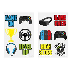 Gamer Videospiel Tattoos 4cm