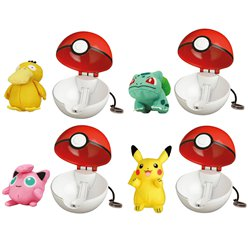 Pokémon - Pop Action Pokéball mit Figur