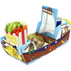 Piratenschiff Kombi-Snackbox 26cm lang