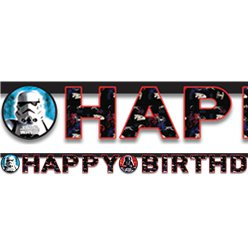 "Star Wars - ""Happy Birthday""-Girlande 1,6m"