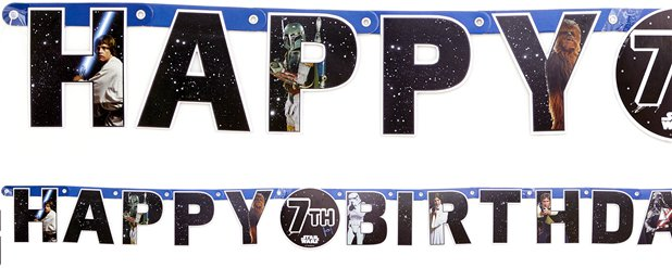 "Star Wars - ""Happy Birthday"" Personalisierbare Girlande 1,65m"