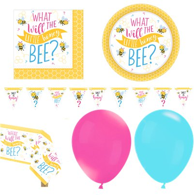 "Kleines Bienchen - ""What Will It Be?"" Premium-Party-Set - Für 16 Personen"