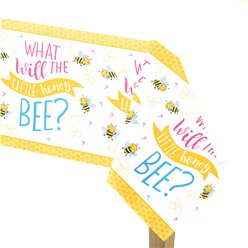 "Kleines Bienchen - ""What Will It Bee?"" Papiertischdecke"