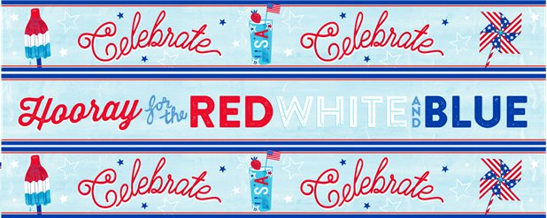 4. Juli Independence Day Papierbanner - 3 Designs